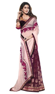Triveni Noticeable Velvet Bordered Half-Half Saree TSXSG5103