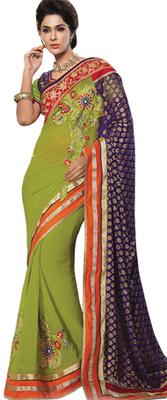 Triveni Wondeful Traditional Applique Worked Saree TSXSG5114