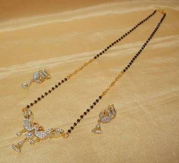 Peacock AD-CZ Mangalsutra Small