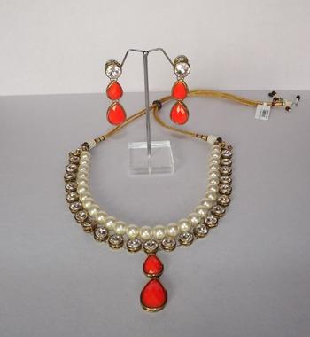 Kundan & Pearl Necklace Set
