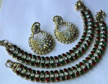 Designer Earings with Anklets