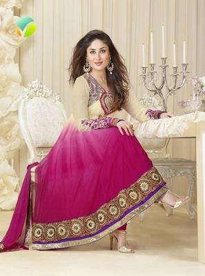 pink and cream  Salwar kameez