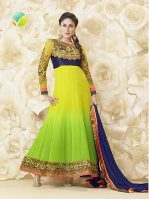 yellow green Salwar kameez