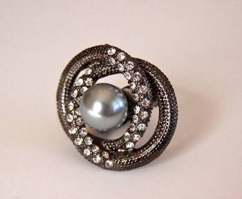 Diamond and Pearl Cocktail Ring