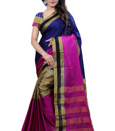 Buy pink printed banarasi silk saree With Blouse banarasi-saree online