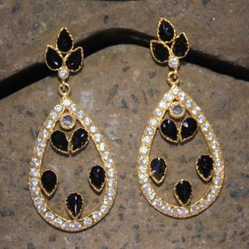 Opulent american diamond earring