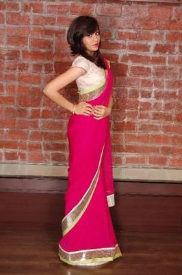 Designer saree made by panisha