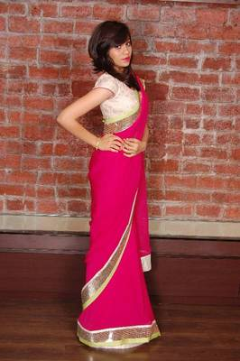 Designer saree made by panisha