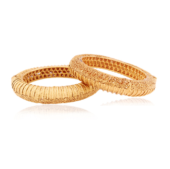 Class Apart intricate  Gold plated Antique Bangles