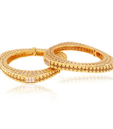 Buy Scintillating triangular Gold plated Antique Bangle bangles-and-bracelet online
