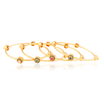 Impact styleicon Gold plated Antique Bangles