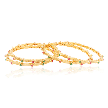 Timeless Gold plated Antique Bangles