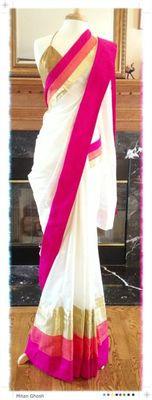 Nice and beautiful colour combination elegant saree