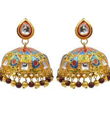 Buy Kundan-meenakari tokri jhumki fashion-deal online