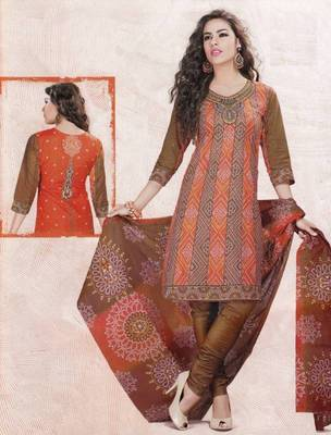 Dress material cotton designer prints unstitched salwar kameez suit d.no 4405