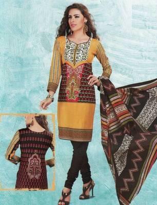 Dress material cotton designer prints unstitched salwar kameez suit d.no 4411