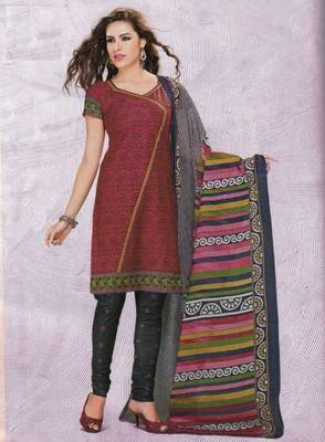 Dress material cotton designer prints unstitched salwar kameez suit d.no 4416