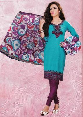 Dress material cotton designer prints unstitched salwar kameez suit d.no 4434
