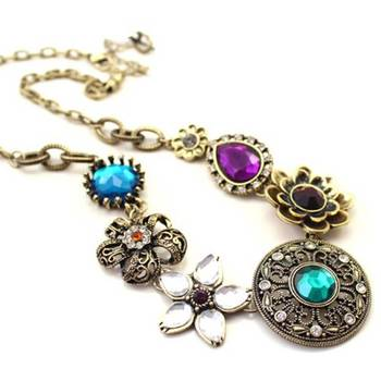 Via Mazzini Pretty Floral Multicoloured Necklace