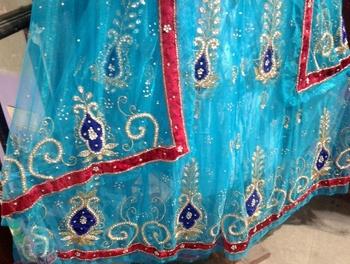 Beautiful blue Engagement lehenga