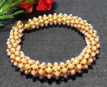 Pearl Bangle Bracelet Kada