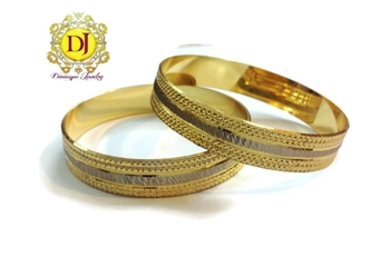Two toned gold plated bracelets