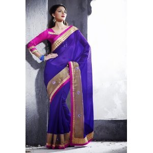 Traditional touch designer saree