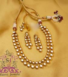 Buy Round Kundan Meena Necklace necklace-set online
