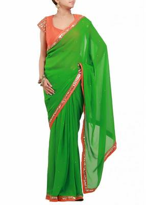 Nice and beautiful colour combination saree