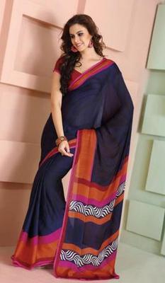 Stunning Blue saree. 31171.