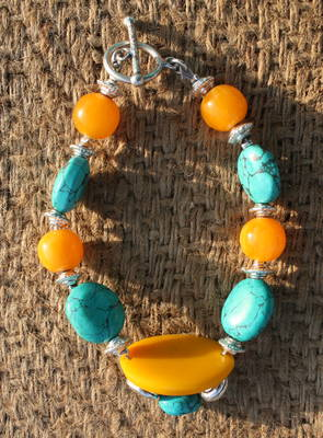 YELLOW AND TURQUOISE BRACELET