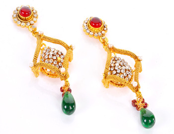 Designer Square and Round Earring