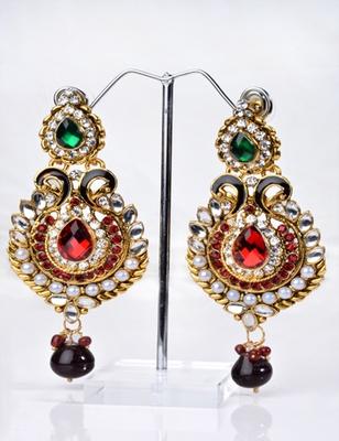 Traditional Big Kundan Earring