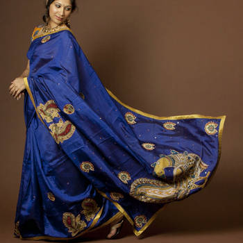 Royal Blue Kalamkari