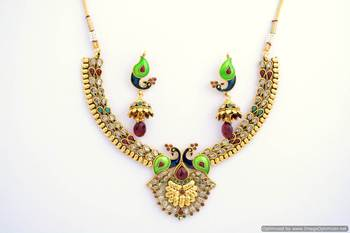 Peacock Necklace Set 2