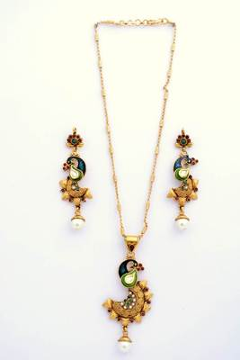 Peacock Necklace Set 5