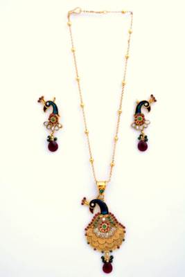 Peacock Necklace Set 6