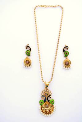 Peacock Necklace Set 8