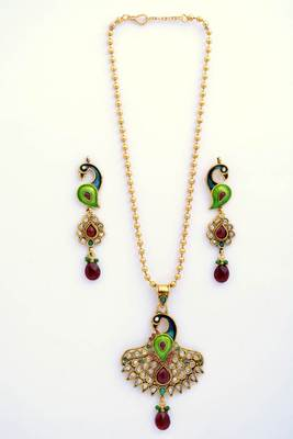 Peacock Necklace Set 13