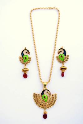 Peacock Necklace Set 16