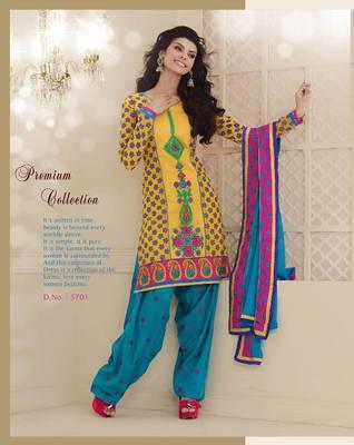 cotton cambric patiyala suit