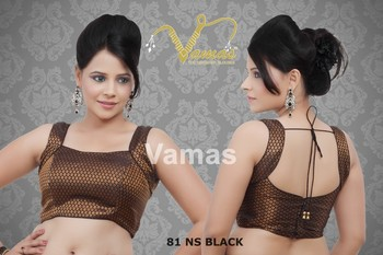 Sleeveless Printed Blouse Black. 81nsb. Muhenera presents vama collection