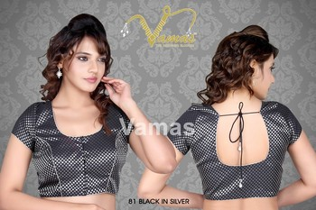 Short sleeve Saree Blouse Black. 81. Muhenera presents vama collection