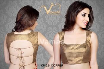 Sexy Back dori blouse - Kp 29c - copper. Muhenera presents vamas designer collection