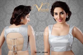 Sexy Back dori blouse - Kp 29s - silver. Muhenera presents vamas designer collection
