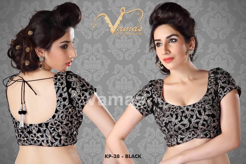 Zari Blouse Back Designs 24