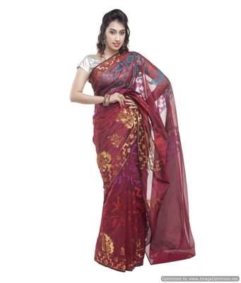 Banarasi Handloom Rupiyan Mercerize Cotton Saree
