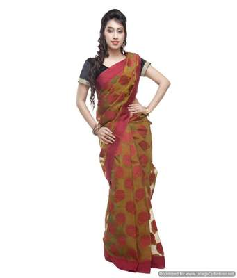 Banarasi Handloom Kora Silk with Gulab Buta Saree