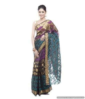 Banarasi Handloom Kora Silk Resham Work Saree