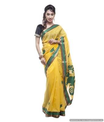 Banarasi Handloom Chanderi Cotton Saree